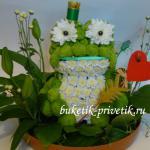 Царевна лягушка из цветов
