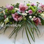 Композиция цветов на свадебный стол