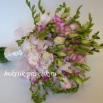 Свадебный букет невесты из фрезий