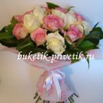 Букет роз белых и розовых