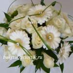 Зимний свадебный букет белые герберы