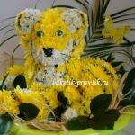 Тигр из цветов