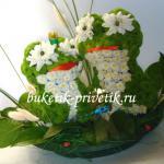 Лягушки из цветов