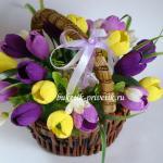 Конфетный букет тюльпаны