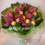 Букет из орхидей и конфет
