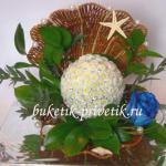 Жемчужина из хризантем
