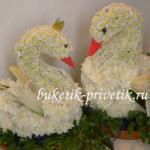 Свадебные лебеди из цветов