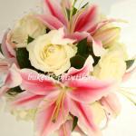 Букет лилии розы свадебный