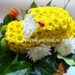 Машинка из цветов