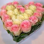 Розы в виде сердца