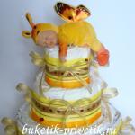 Памперсный торт