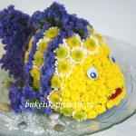 Рыбка из цветов
