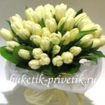 Букет невесты из тюльпан