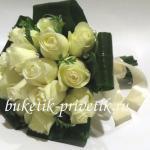 Зимний букет невесты из роз