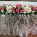 Цветочная свадебная композиция на стол